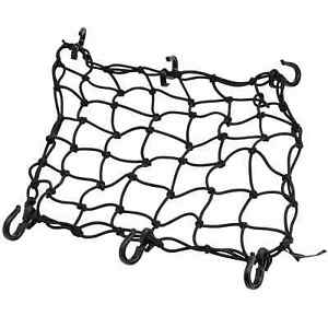 Adjustable Cargo Net for motorcycle camping gear hauling Harley Sportster Yamaha
