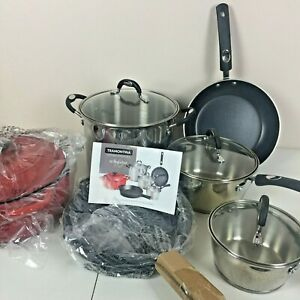 Tramontina 10-Pc Kitchen Essentials Multi-Material Cast Iron Cookware Set Used
