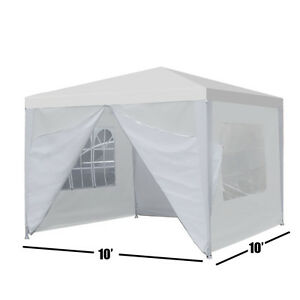 Heavy Duty Canopy Party 10quot;x10quot; Outdoor Wedding Tent Gazebo with 4 Side Walls