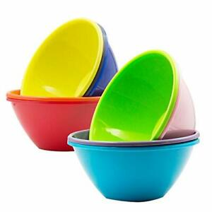 Youngever 32 ounce Plastic Bowls, Large Cereal Bowls, Large Soup Bowls,