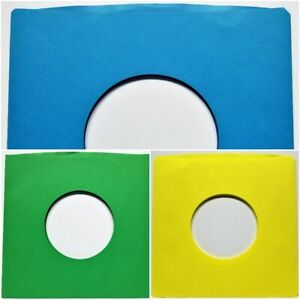 Paper Sleeves 7quot; 45 Vinyl Records Green Yellow Brown Black Gold Blue Red 45rpm