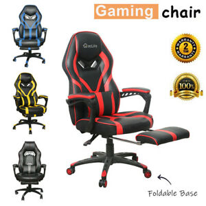 Gaming Chair Racing Ergonomic Recliner Office Computer Desk Seat Swivel Footrest $149.99