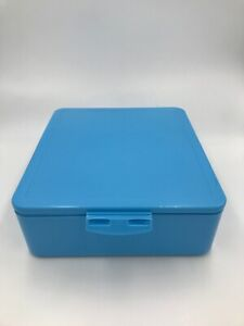Pottery Barn Kids Spencer Bento Box Container Light Blue Used