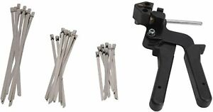 YaeCCC Cable Tie Gun with 30 Pcs Stainless Steel Locking Cable Zip Ties Kit NEW $41.99