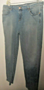 Eileen Fisher Best Jeans Ever Skyblue Boyfriend Cropped Jeans 16