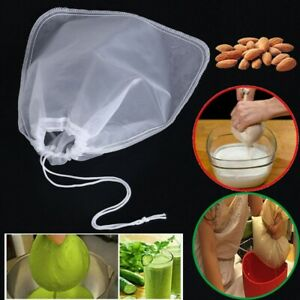 Lots Reusable Nut Milk Bag All Purpose Food Strainer Fine Mesh Nylon Cheesecloth