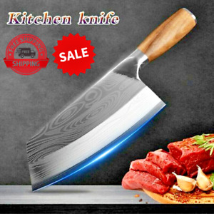 Kitchen Knife Damascus Laser  Chef Knife Stainless Steel Butcher Meat Chopping
