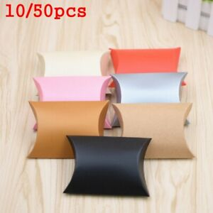 pouch Xmas Party Kraft Gift Bag Paper Candy Boxes Pillow Shape Christmas