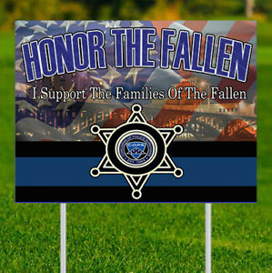 Honor the Fallen (Fundraiser)- Yard Sign w/stake - Double Sided - 24