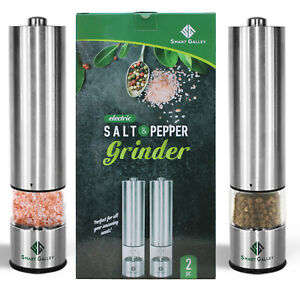 Modern Electric Salt and Pepper Grinder set