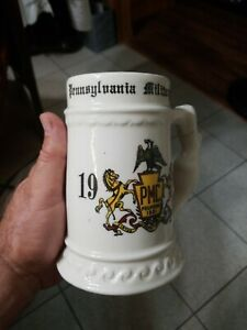 1959 Pennsylvania Military College 32 oz BEER STEIN MUG named repaired handle $19.95
