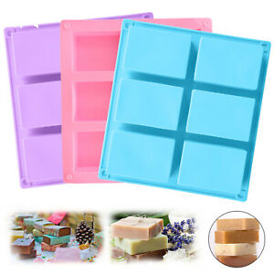 6 Cavity Rectangle Soap Mold Silicone Mould Tray For Homemade Craft DIY Tools US $7.98