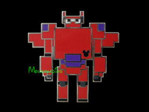 Robot Looking 8 Bit Video Game RED ARMOUR BAYMAX Big Hero 6 Disney 2019 PIN $5.95