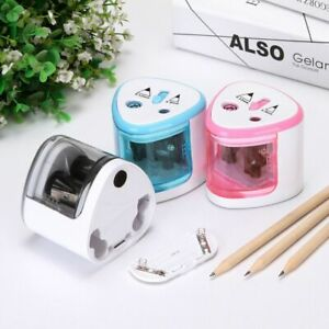 Portable Electric Pencil Sharpener Double Hole Pencil Sharpener Battery Operated
