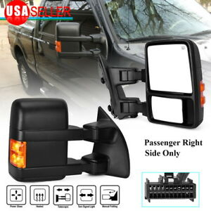 Tow Mirror Passenger Right for 08 16 Ford F250 F350 SuperDuty Extendable Heated $82.60