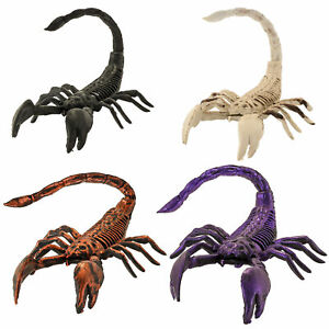 Halloween Haunters Set of 4 Scary Over-Sized Skeleton Scorpion Prop Decorations