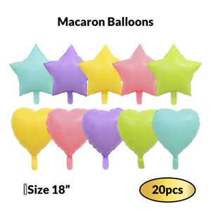 "20 Pcs Pastel Macaron Balloons 18 "" Candy colored Foil Party Balloons for Birthd"