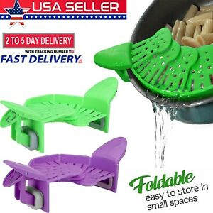 Kitchen Colander Silicone Strainer Perfect for Draining Pasta, Vegetable,Fruits