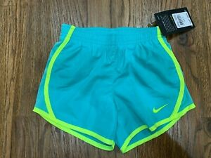 Nike Dry Girls Dri fit Shorts NWT Size 5 Teal Highlighter $13.50