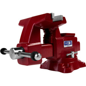 Wilton Tools 28820 6 1 2 Wide Jaw 6 Max Opening Swivel Utility Bench Vise Red $179.99