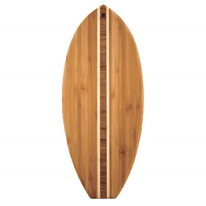 Totally Bamboo Lil' Surfer Surfboard Shaped Bamboo Serving and Cutting Board, x
