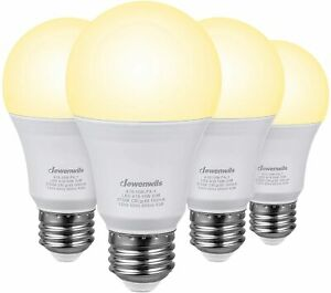 DEWENWILS Dimmable LED Light Bulb 3000K Soft White 800 Lumen 4 pack HDLA19B