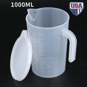 1000ML Measuring Cup Measuring Tools Plastic Clear Measuring Cylinder wtih Lid
