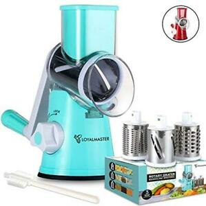 LOYALMASTER Rotary Cheese Grater - Manual Slicer Grinder  Assorted Colors
