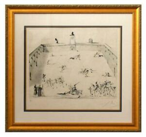 Salvador Dali Etching with drypoint in colors $19800.00