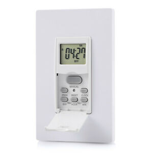 DEWENWILS Indoor in Wall Light timer Switch 7 Day Digital Timer Switch HIDT12W $15.99