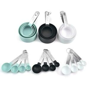 4pcs Stainless Steel Measuring Cups Spoons Kitchen Baking Cooking Tool Set US