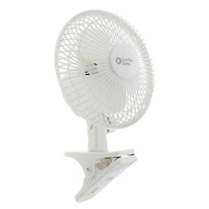 Comfort Zone 6 Inch Clip-On Fan | Great for Table Tops, Night Stands and Comfort