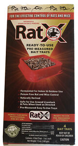 RatX Rat Mice Repellent Pellets 4 DCON Type Bait Trays EARTH FRIENDLY USA Made