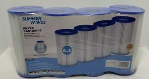 Summer Waves UNIVERSAL Pool FILTER CARTRIDGE REPLACEMENT A/C 4pk Fast Shipping
