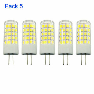 G4 LED Light Bulb 5W T3 JC Type Bi-Pin G4 Base AC/DC 12V Not-Dimmable (5 Pack)