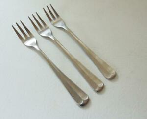 Rogers COLONIAL MANOR Cocktail/Sea Food Fork Lot 3 Forks Stainless