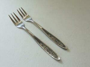 Ekco COUNTRY GARDEN Cocktail/Sea Food Fork Lot 2 Forks Stainless