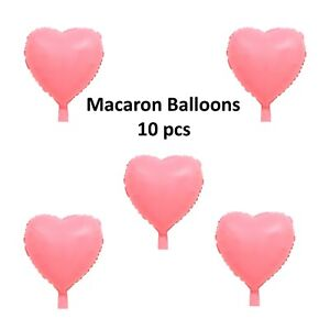 "10 Pcs Pastel Macaron Balloons 18 "" Candy colored Foil Party Balloons"