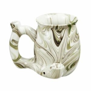 PREMIUM ROAST & TOAST SINGLE WALL MUG - GREEN MARBLE DESIGN