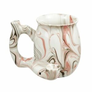 PREMIUM ROAST & TOAST SINGLE WALL MUG - PINK MARBLE DESIGN