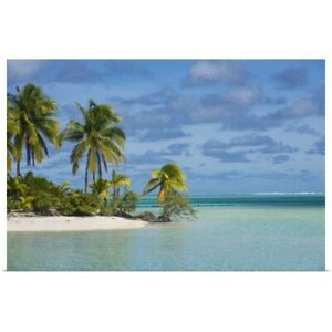 White sand bank in the waters of the Poster Art Print Home Decor $49.49