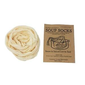 12 X SOUP SOCKS STOCK FOOD BROTH CASSEROLE STEW POT KITCHEN STRAINER 100% COTTON