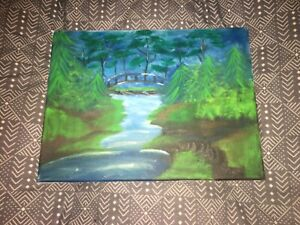 Oil Painting of a Forest, locally painted. 10x12 canvas