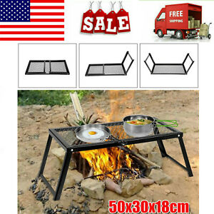 Carbon steel Barbecue BBQ Grill Camping Folding Portable Outdoor 55*30*18cm Tool