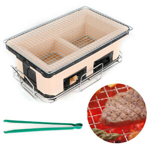 Japanese Korean Ceramic BBQ Table Grill Chicken Barbecue Charcoal Grill Stove US