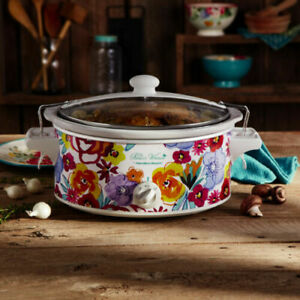 The Pioneer Woman Flea Market Floral 6-Quart Portable Slow Cooker 2 heat setting