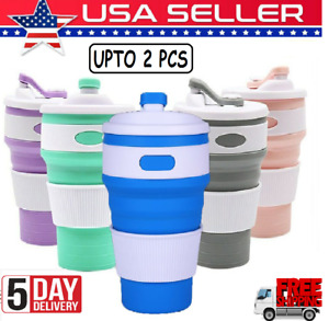 Silicone Collapsible  Coffee Cup for Travel Outdoor Camping Hiking Office 350ml
