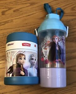 Thermos Disney Frozen 2 Funtainer Stainless Steel 10 Oz & Water Bottle Snack Cup