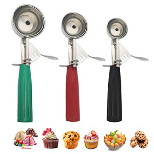 BEST Cookie Scoop Set Ice Cream with Professional Stainless Steel Cupcake Scoop