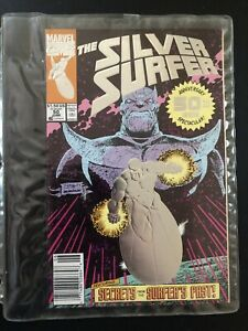 The Silver Surfer #50 2nd Print Feat. Thanos Marvel Comics June 1991 VF $12.98